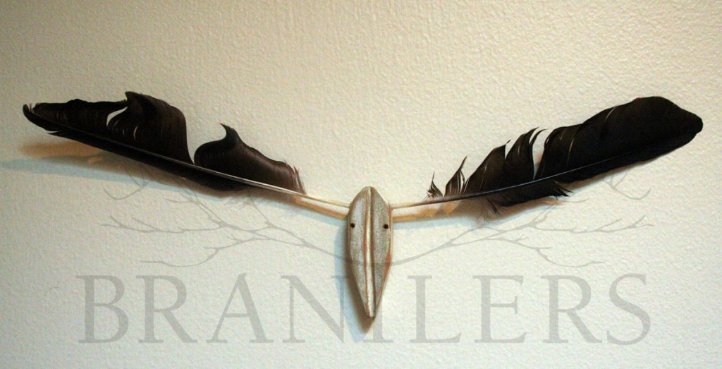 3-inch Crow Feathers